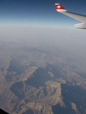 flug über zagrosgebirge (iran)