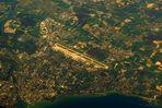 Flughafen Genf aus 10000 m Höhe