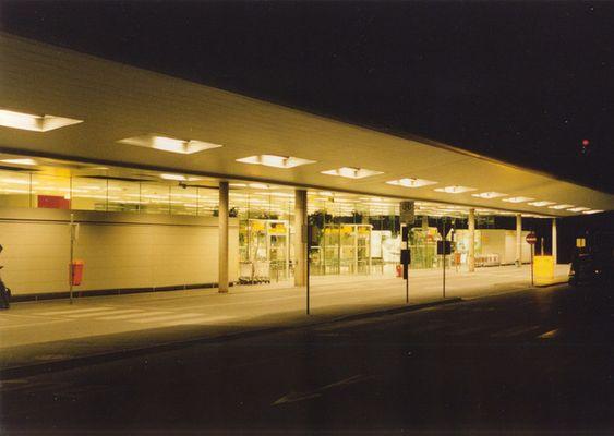 Flughafen Graz bei Nacht