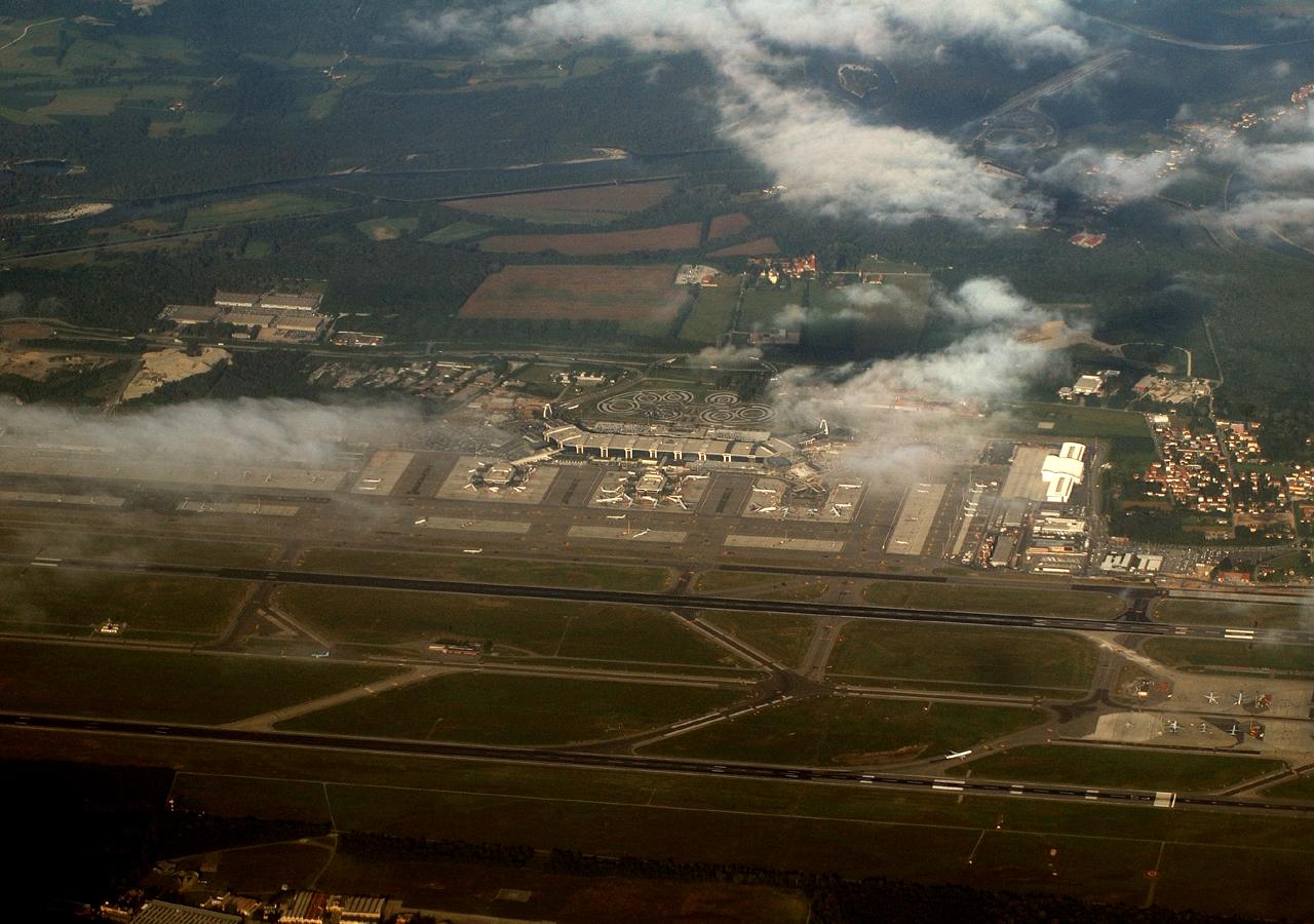"""Flughafen Mailand """"von oben"""""""