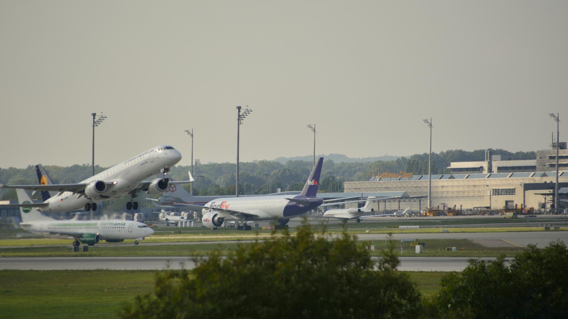 Flughafen München Start .......................