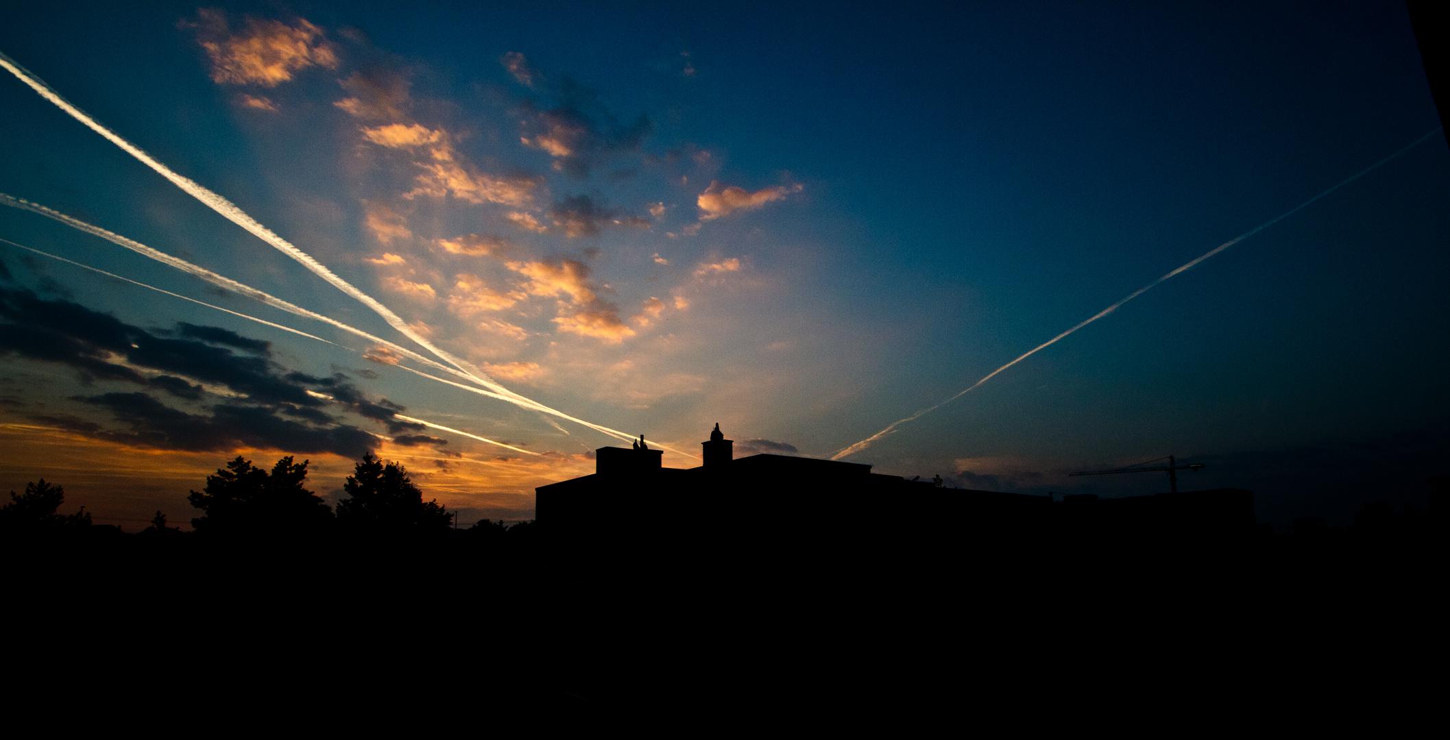 Flugshow ist vorbei, gute Nacht Himmel