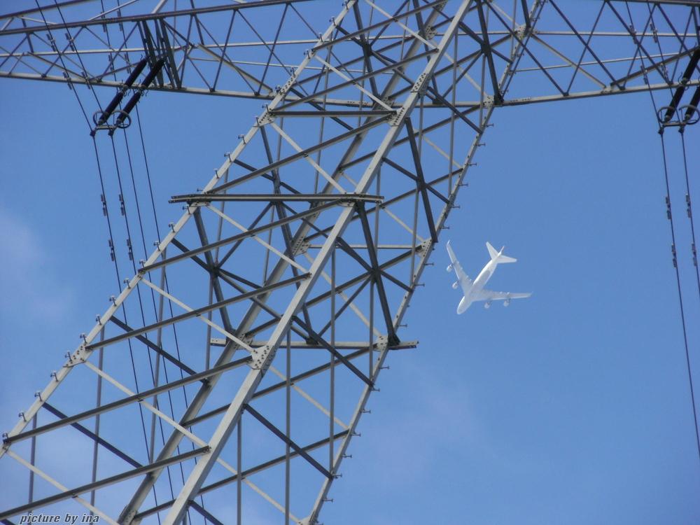 Flugzeug unter Strom