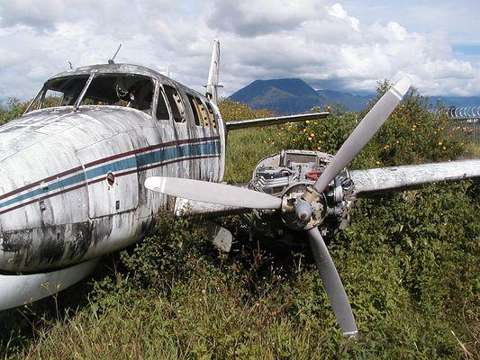 Flugzeugwrack in Papua Neu Guinea (Mt.Hagen)