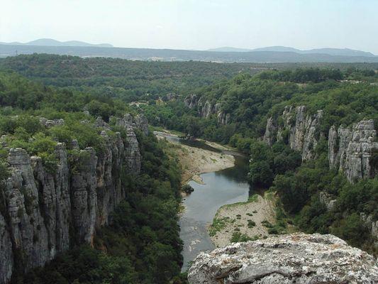 Fluss Chassezac