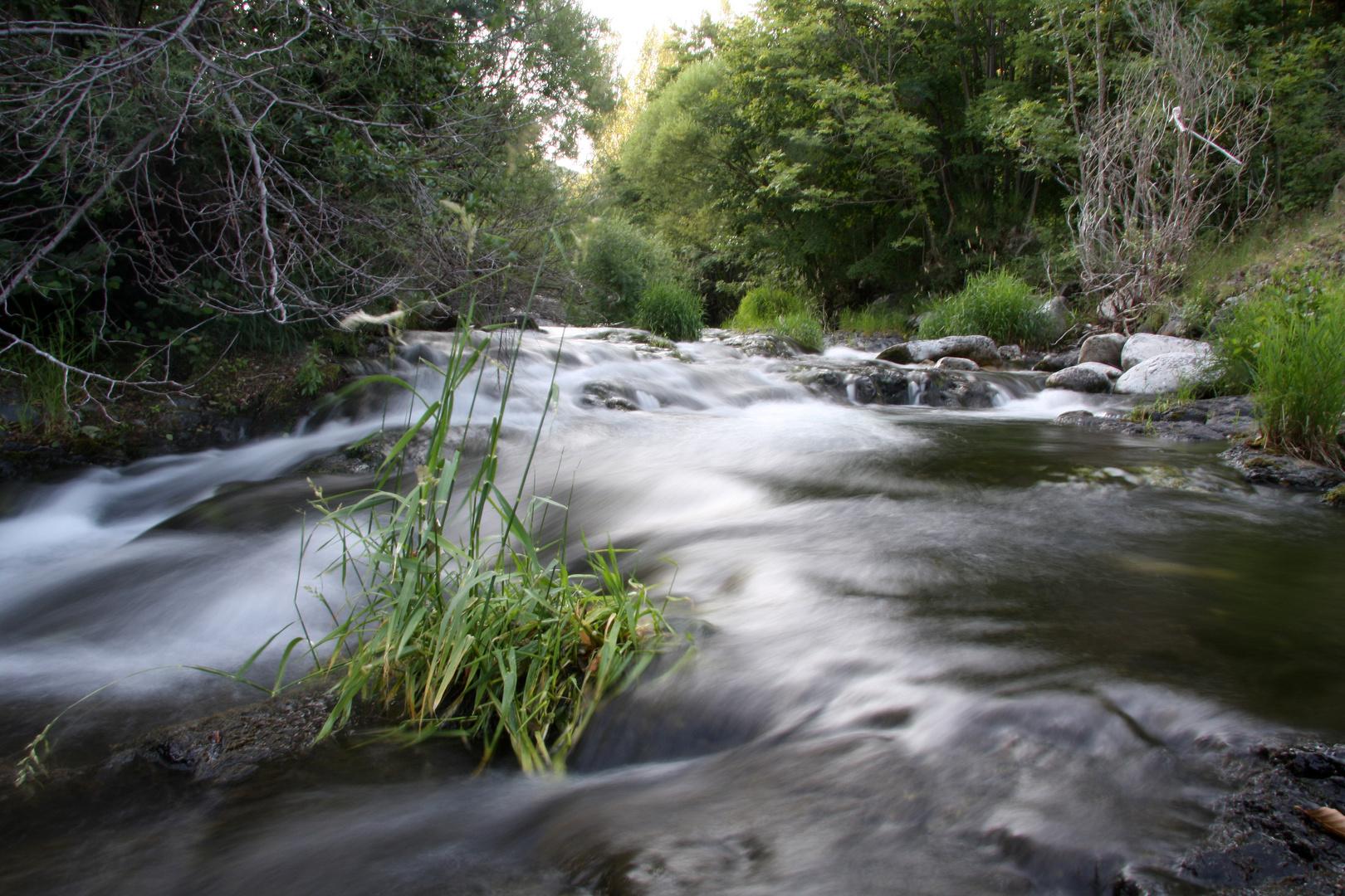 Fluss in der Region Ardéche/Frankreich