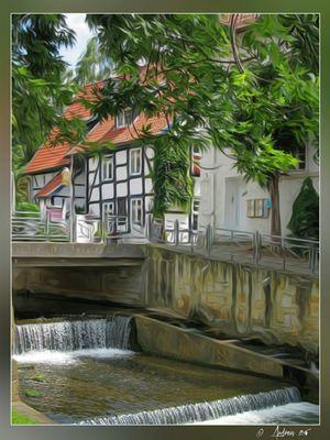 Fluss in der Stadt
