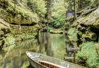 Fluss in Hrensko (Tschechien)