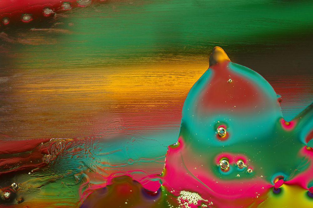 Fluss in Öl von Hanne-Nowak