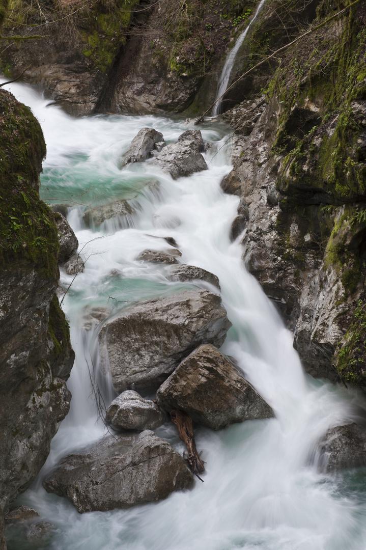 Fluss Tolminka in Slowenien
