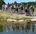 Fluss und Fahrrad - alles im Fluss