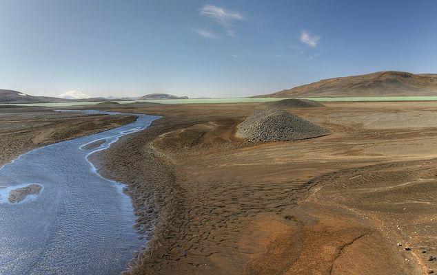 Flußlandschaft an Islands Südküste