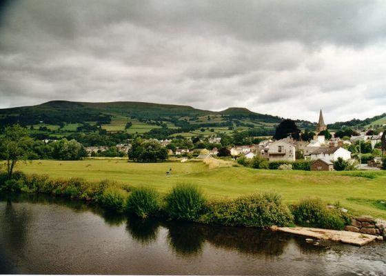 Flußlandschaft in den Brecon Beacons