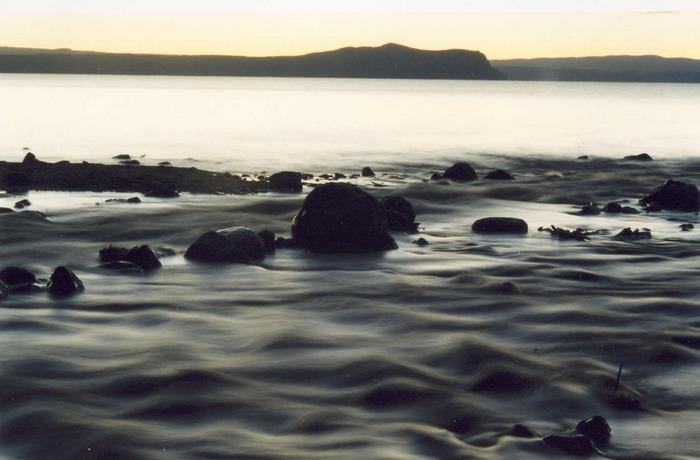 Flussmündung Lake Taupo