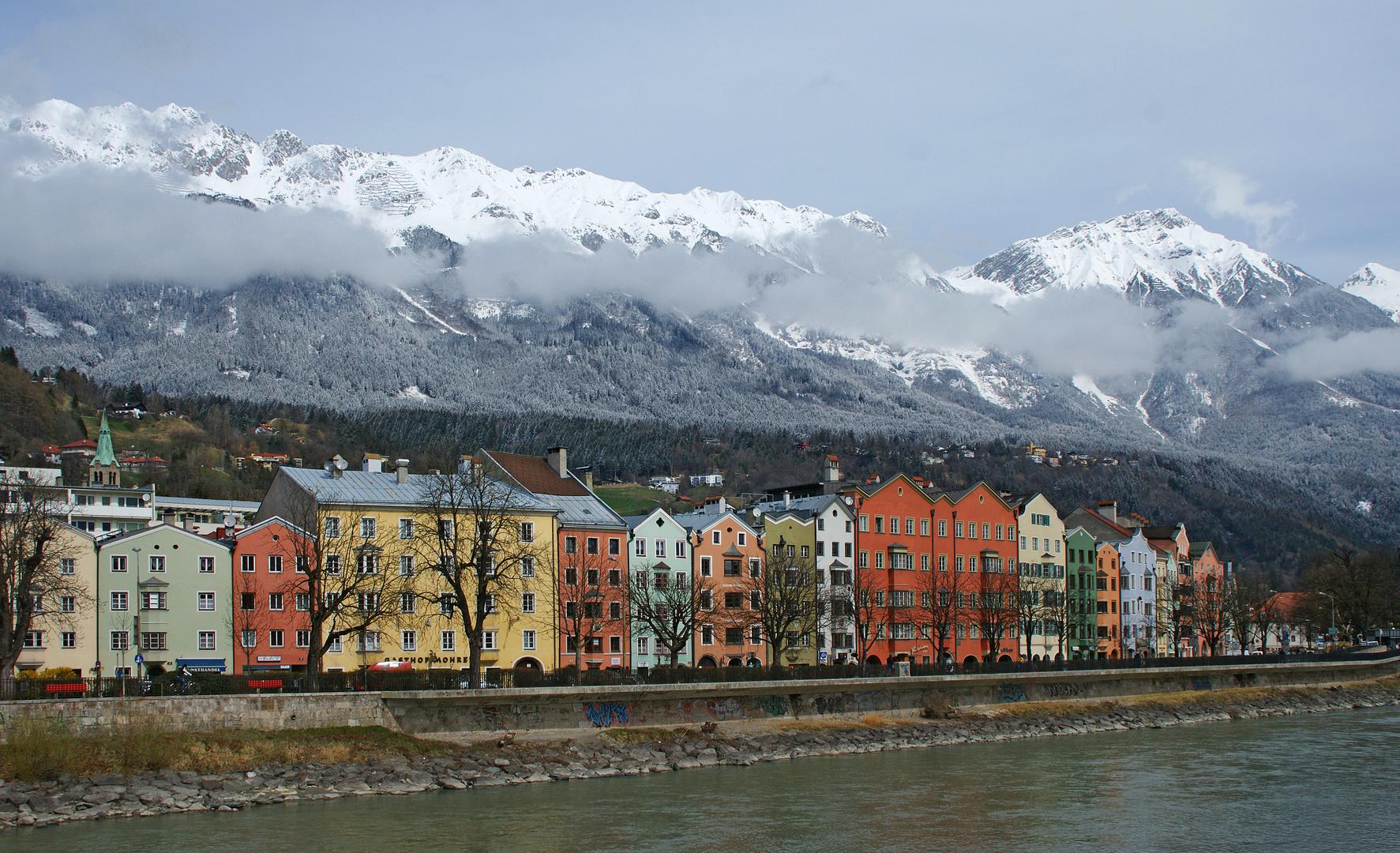 Flußufer in Innsbruck
