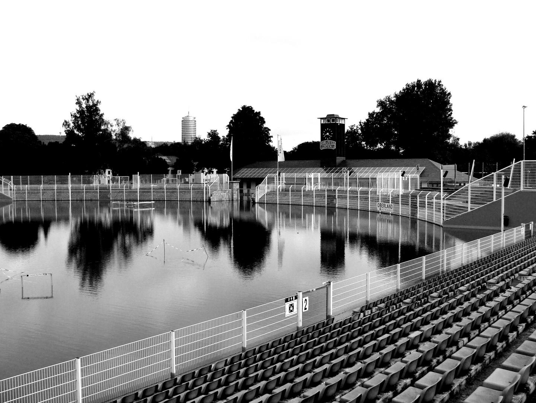 Flut 2013 Ernst Abbe Sportfeld