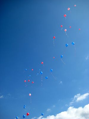 """""""fly away"""" oder """"41 Luftballons, auf ihrem Weg zum Horizont..."""""""