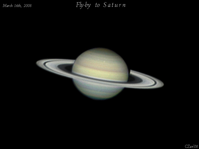 Fly-by to Saturn