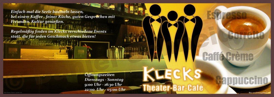 Flyer Theater-Bar-Café Klecks