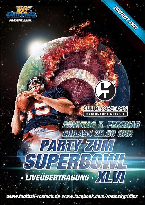 """Flyerdesign """"Party zum Superbowl"""""""