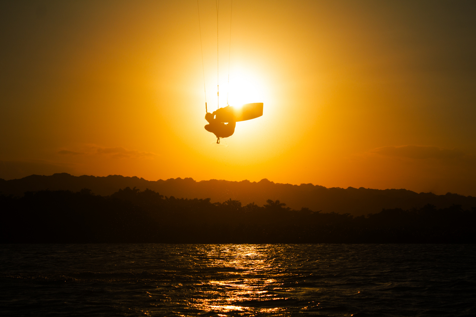Flying in the Sunset