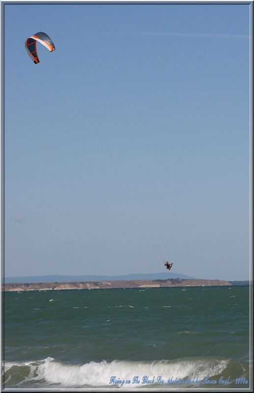 Flying on The Black Sea. Burgas in Bulgaria-2006