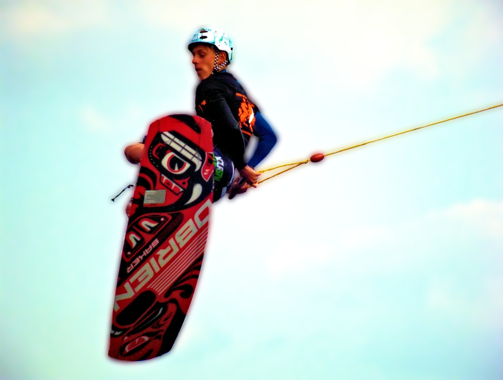 Flying Wakeboarder