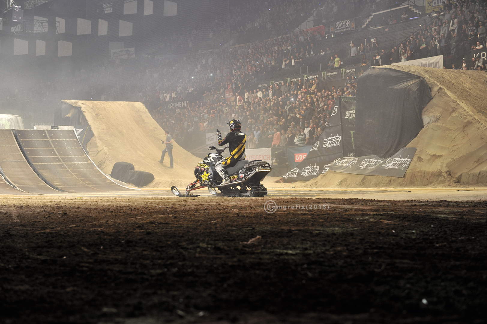 FMX-Snowmobile at masters of dirt 2013