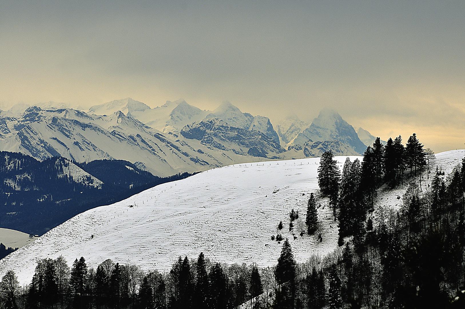 Föhnstimmung in den Alpen
