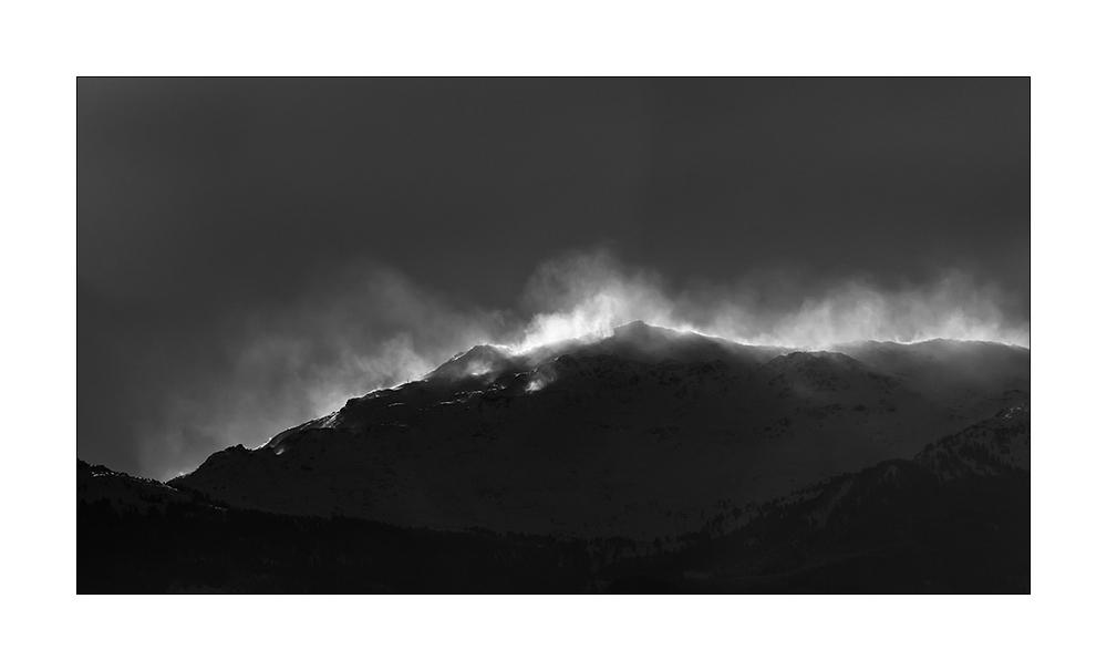 Föhnsturm über den Alpen