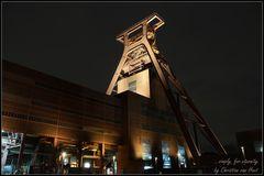 Förderturm, Zeche Zollverein in Essen