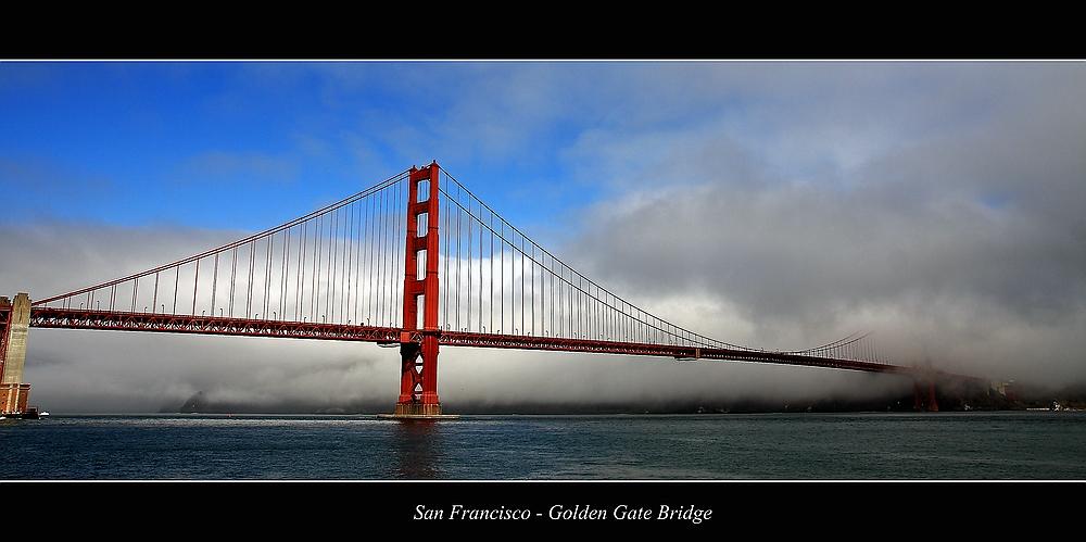 Fog at the Golden Gate Bridge...