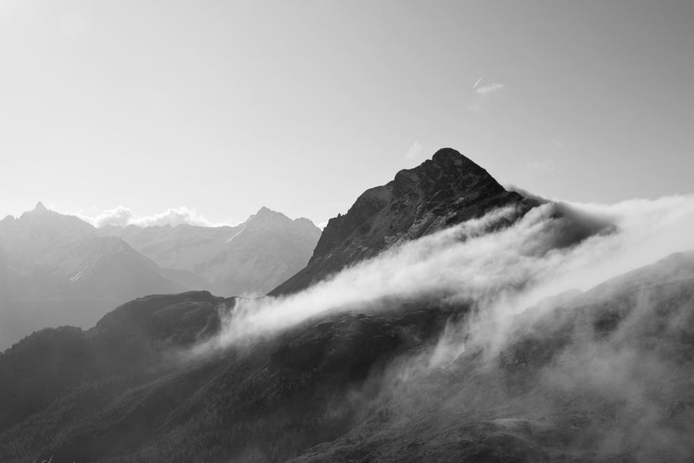 fog on the bernina