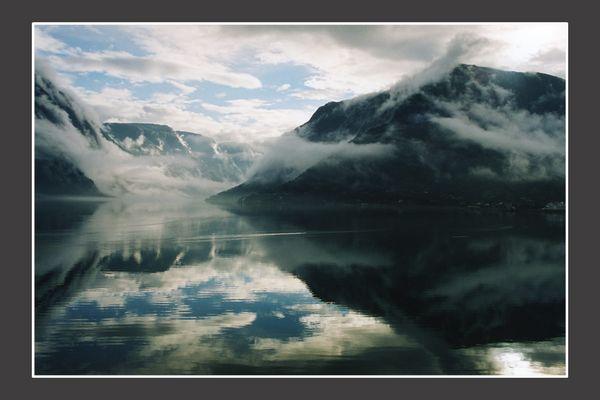 fogged fjord