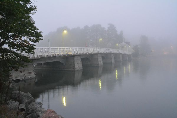 Foggy bridge on Seurasaari
