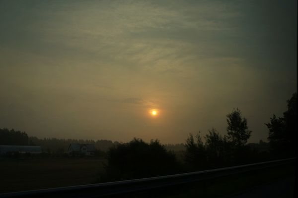 Foggy Monday's morning