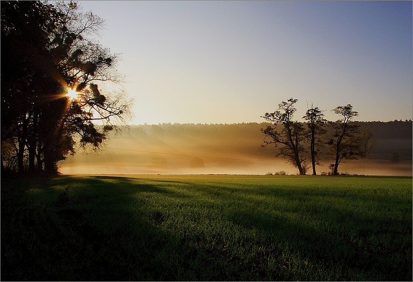 Foggy sunrise in Luxembourg