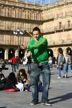 Folklore auf dem Major Plaza de Salamanca