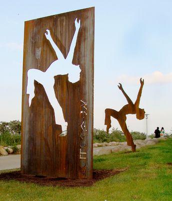 """FOLLOW ME, Timmendorfer Strand , """"Kunstkilometer an der Küste"""",Skulptur"""