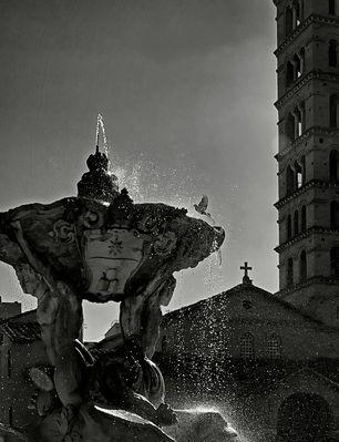 Fontana a Roma bn