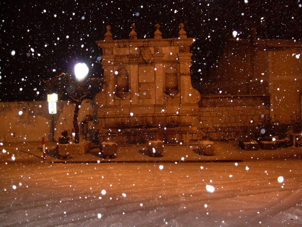 Fontana dello Steccato sotto la Neve (Barile Pz)