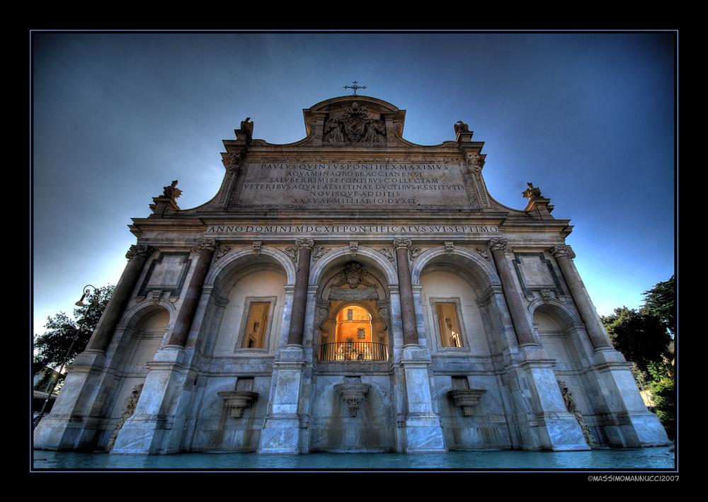 Fonte Acqua Paola in Roma