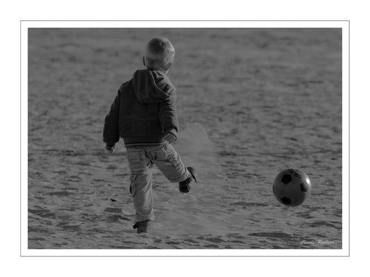 Foot à la plage