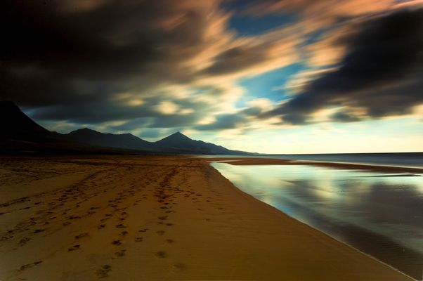 ...footprints in the sand....