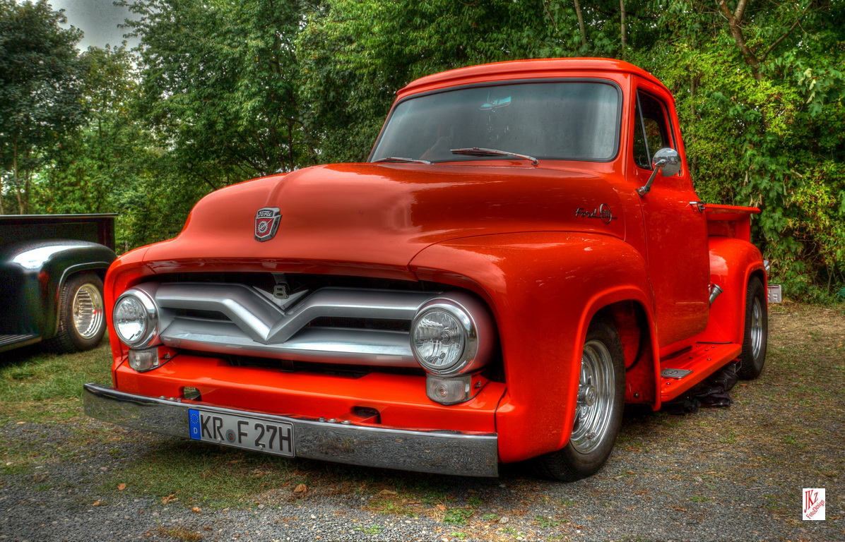 ford f100 pickup v8 1955 foto bild autos zweir der. Black Bedroom Furniture Sets. Home Design Ideas