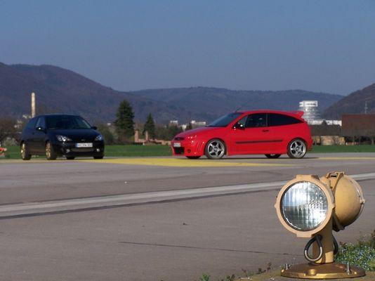 Ford Focus auf Startbahn