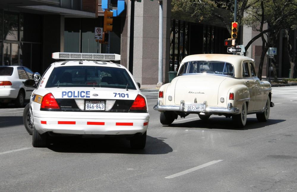 Ford Police Interceptor auf der 6th Street in Austin/Tx