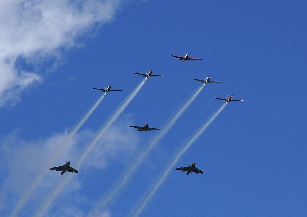 Formation an der Flugshow St. Stephan 25.8.07