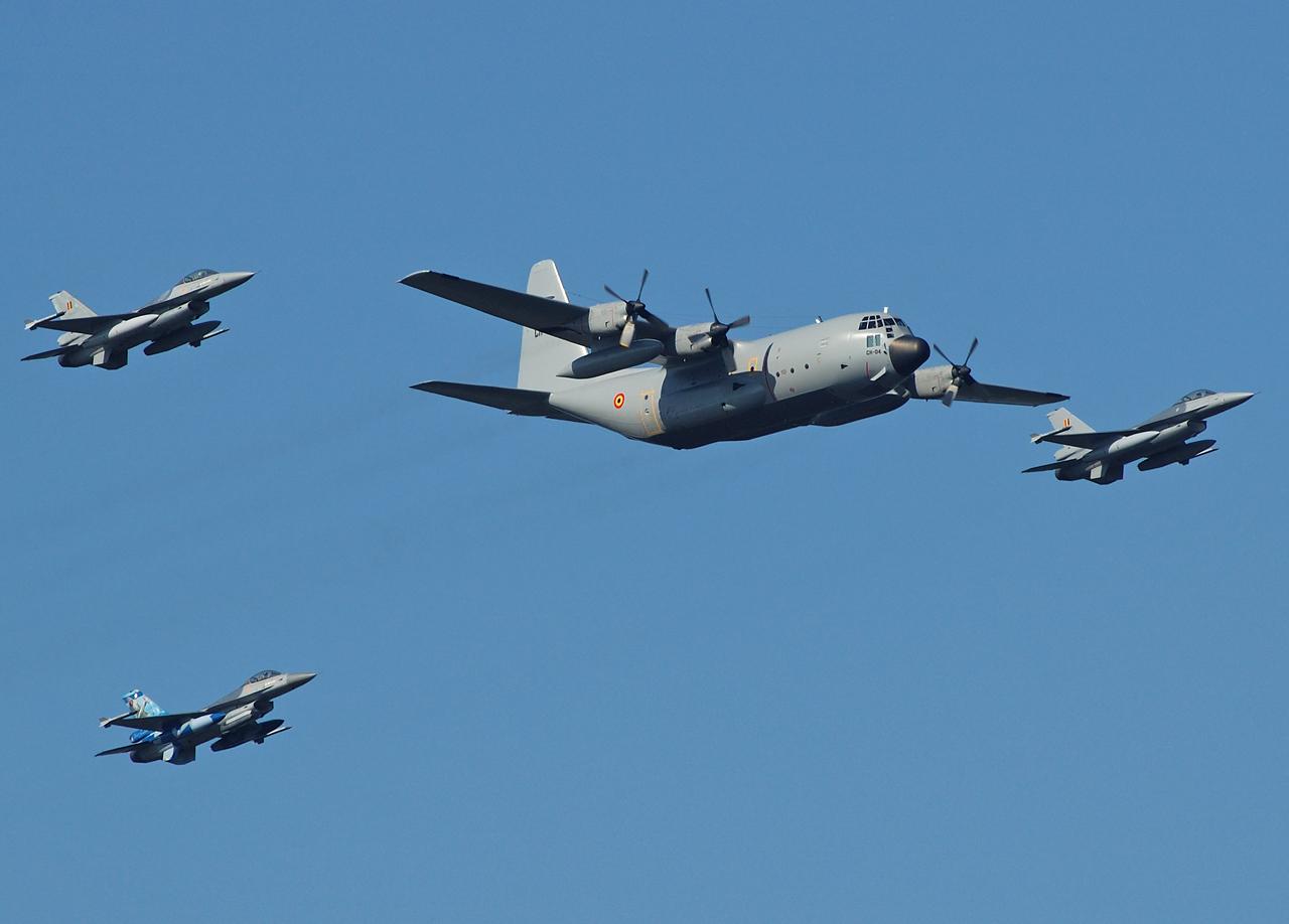 Formation der belgischen Luftwaffe
