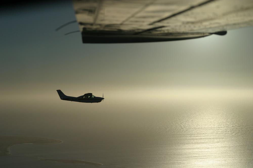 Formationsflug über der Namib